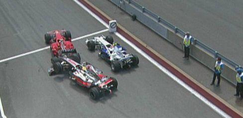 Lewis Hamilton & Nico Rosberg (Canadian Grand Prix 2008) (2)
