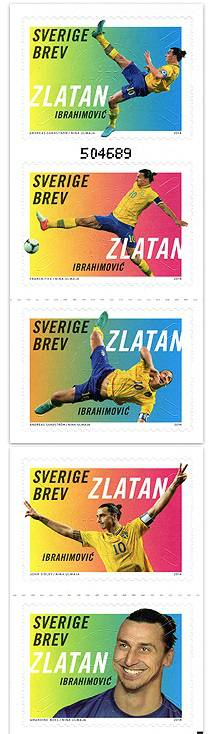 Zlatan Ibrahimovic 5 stamps released