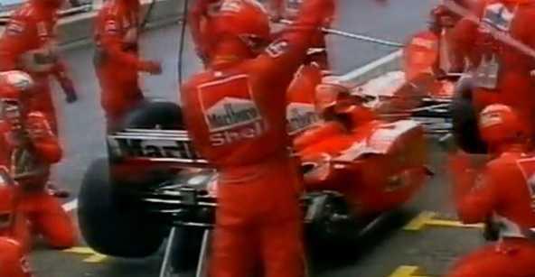 pit stop Eddie Irvine (Nurburgring Grand Prix 1999) pit stop