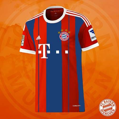 brand new bfd5e b5ea6 Bayern Munich 2014-15 Away Third Kits Released