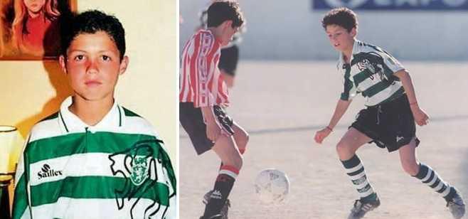 Cristiano Ronaldo early days in football