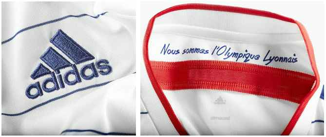 Olympique Lyonnais 2014-15 shirt details