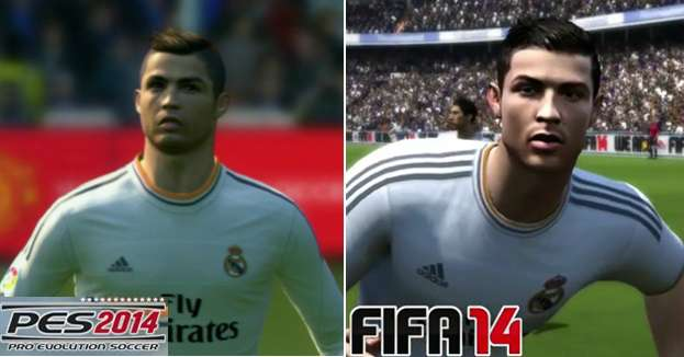 PES 2015 vs FIFA 15 faces comparison