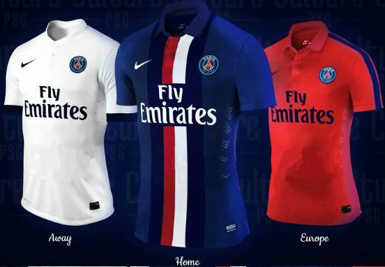 PSG home away third kits 2014-2015 leaked