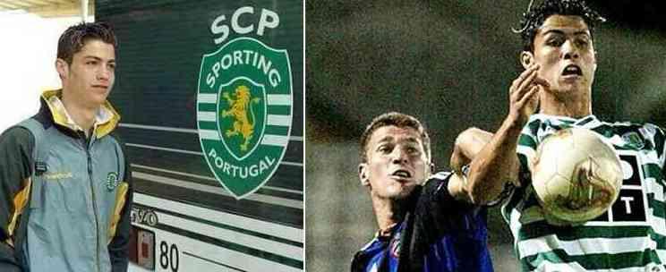 Ronaldo debut for Sporting lisbon