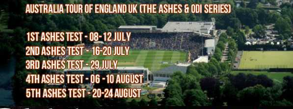 Ashes 2015 Schedule