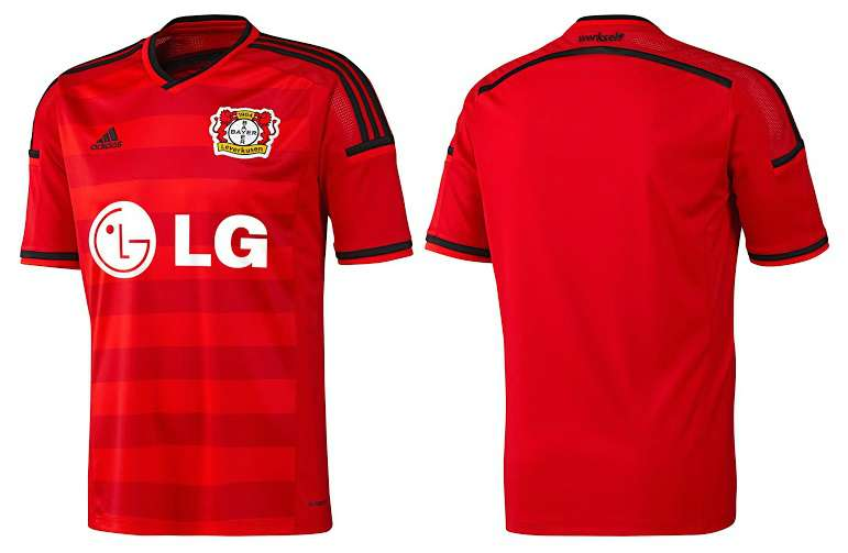 BAYER LEVERKUSEN 2014-15 HOME KIT (2)