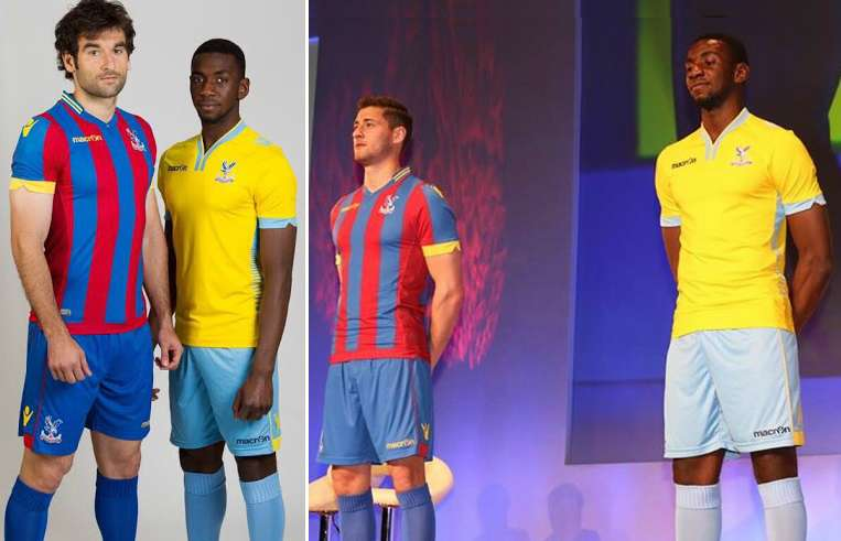 Crystal Palace home and away 2015 kits released