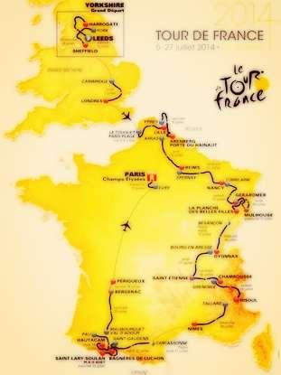 Le Tour De france 2014 schedule