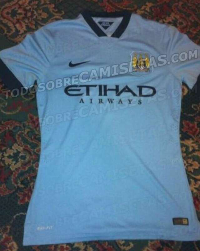 Manchester City 2014-2015 home kit leaked
