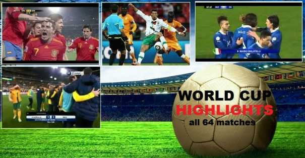 All 64 world cup matches highlights 2014