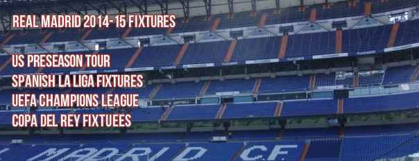 real madrid fixtures