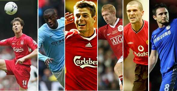 Greatest Premier League Midfielders