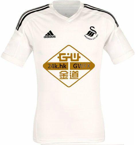 Swansea City home kit 2014-15