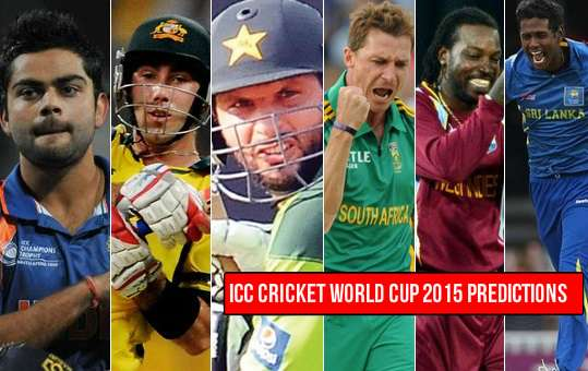 ICC Cricket world cup 2015 predictions