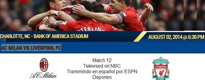 Liverpool vs AC Milan Live Streaming