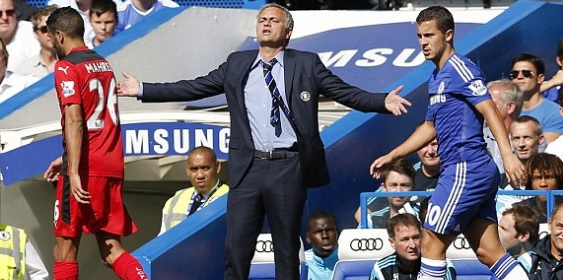 Jose Mourinho angry at chelsea players