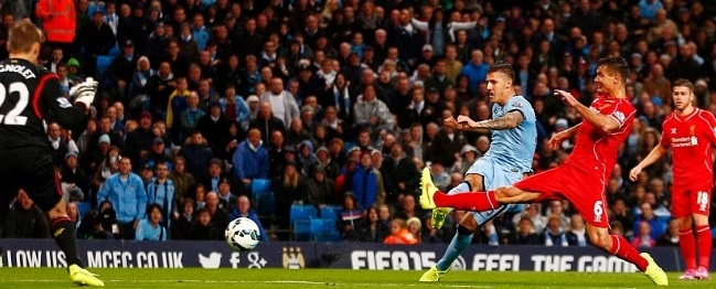 Man City 2-0 Liverpool Highlights 2014-15 premier league
