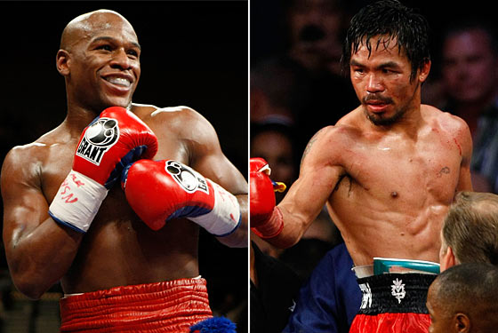 ... Floyd Mayweather Jr. (R) to face Manny Pacquiao (L) in a super fight