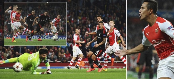 arsenal vs Besiktas Highlights Alexis Sanchez goal video