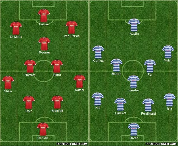 Manchester United vs QPR Live Streaming