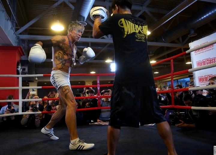 mickey rourke vs elliot seymour fight video