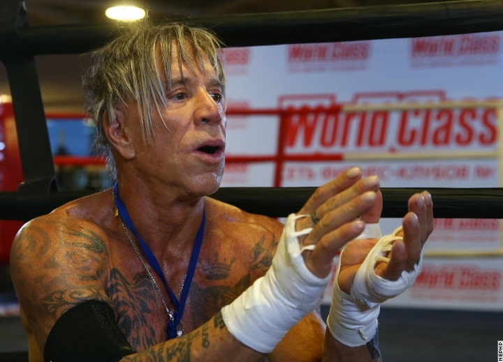 mickey rourke boxing match fix