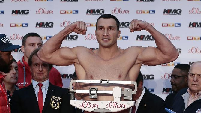 klitschko vs pulev weights
