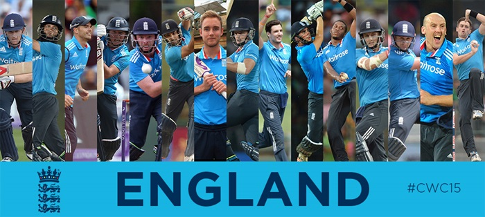 England team in world cup cricket 2015