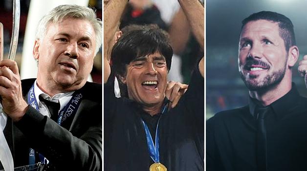 Joachim Loew. Carlo Ancelotti and Diego Simeone