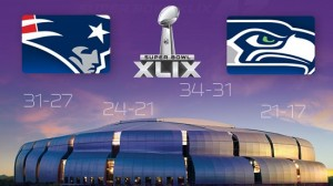 Channels showing Super Bowl XLIX