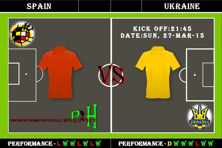Spain Vs Ukraine football