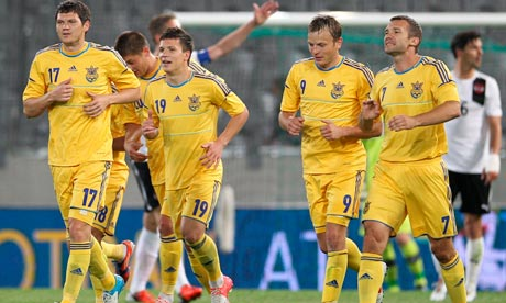 Ukraine's national football team players