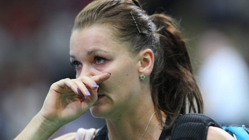 Agnieszka Radwanska looked rusty en route her stunning loss (photo: nos.nl)