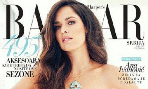 Ana Ivanovic poses for the Harper's Bazaar magazine