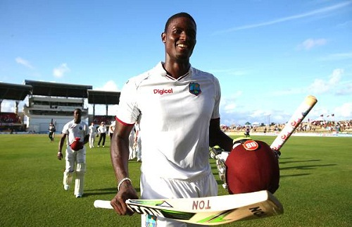 Jason Holder hit his first Test century (photo: cricbuzz)