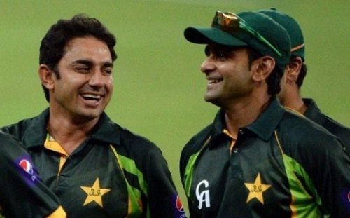 Saeed Ajmal and Mohammad Hafeez are back on International circuit (photo: India TV)