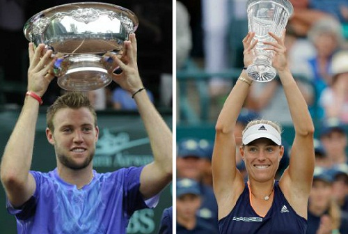 Sam Querrey and Angelique Kerber win titles this week
