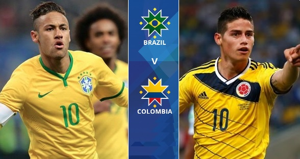 Colombia and Brazil match