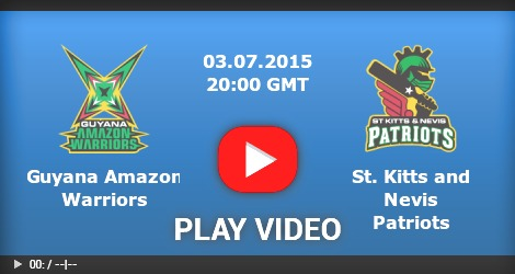 Guyana Amazon Warriors Vs St Kitts Nevis Patriots
