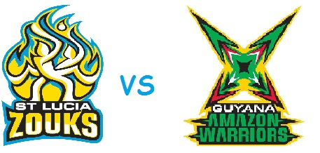 Guyana Amazon Warriors Vs St Lucia Zouks