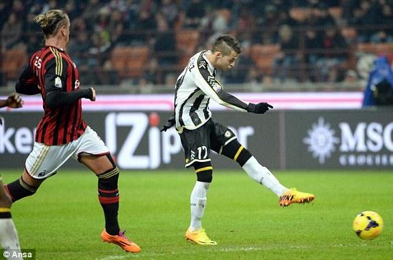 Udinese Crashed on Milan