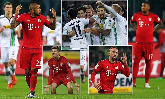 Borussia Monchengladbach Defeats Bundesliga Champion Bayern