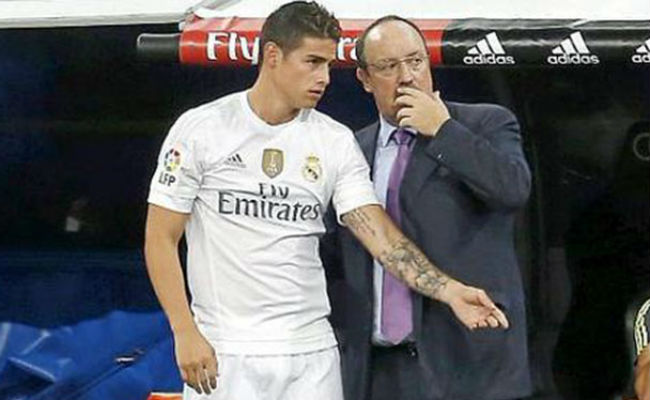 Rafael Benitez and James Rodriguez