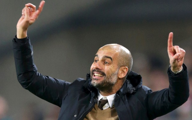 1.++Bayern+Munich's+coach+Pep+Guardiola+during+the+match.