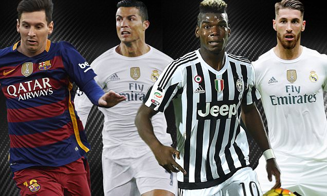 Barcelona Dominate UEFA's 2015 Team Of The Year