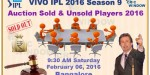 Complete Team & Player List of IPL 2016 (Auction & Draft)