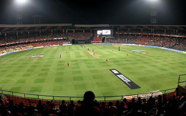 M Chinnaswamy Stadium in Bangalore