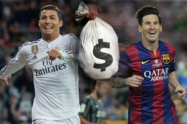Ronaldo-Messi-Money