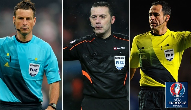 Euro 2016 referees list